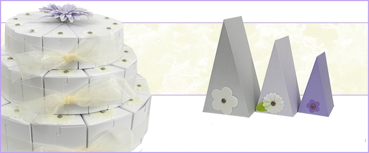 Cake Slice Favor Boxes   Wholesale, Wedding