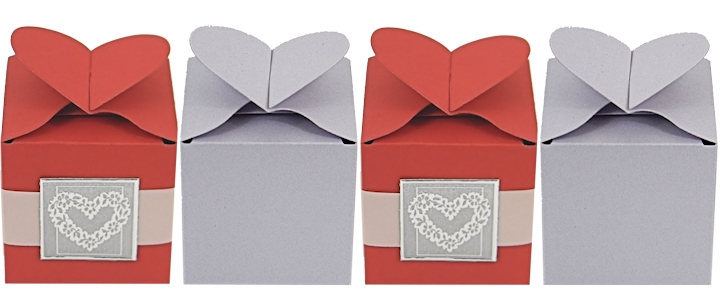 Heart Shaped Candy Boxes - Valentine Heart Candy Boxes