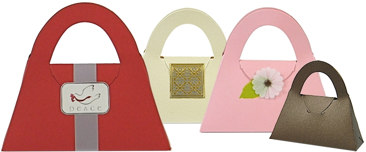 Purse Shaped Boxes For Sale - Small Purse Favor Boxes