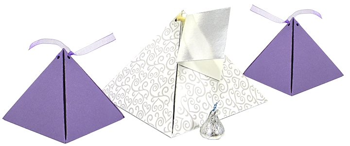 Pyramid Favor Boxes - Gold Pyramid Favor Boxes For Sale